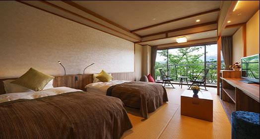 일본 모던 일본식 객실 침대 타입